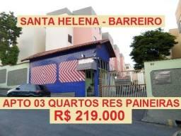 Apartamento no Residencial Paineiras no Bairro Santa Helena, região do Barreiro de Baixo