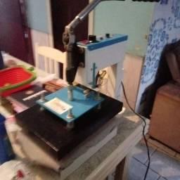 Máquina de imprimi camiseta chinelo...