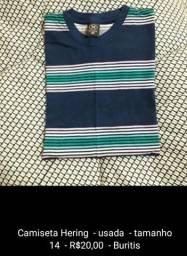 Camisas seminovas de R$20,00 a R$80,00