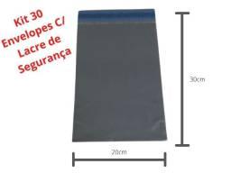 30 Envelopes de Segurança 30x20cm C/ Lacre - Envio E-Commerce 100% Reciclado