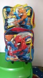 Conjunto de bolsa e lancheira do homem aranha