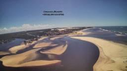 Lote na beira da praia, no encontro das águas mornas do oceano e do rio