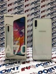 Samsung Galaxy A70 128GB Branco - seminovo - Loja Física Niteroi