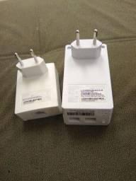 Título do anúncio: Tl-wpa4220 Kit 300mbps Av600 Wifi Powerline