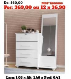 Título do anúncio: Descontasso em Londrina- Armario de 04 Portas com Espelho-Comoda Casal 04 Gavetas Espelho