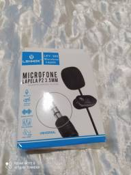 Microfone De Lapela Para Celular P2 Profissional Stereo Jh043