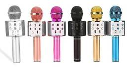 Título do anúncio: Microfone karaokê Bluetooth recarregável