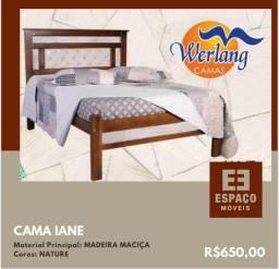 Título do anúncio: Cama Casal Iane em Madeira #Entrega e Montagem Grátis