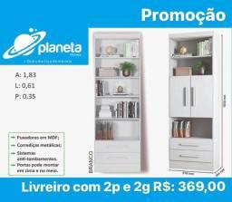 Estante 2 Portas c/2 Gavetas Promoção