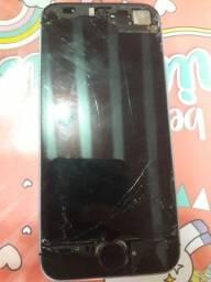 Carcaça de iPhone 5 (não tem concerto, não liga) leia a descrição