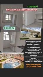 Título do anúncio: vaga para dividir apartamento em itaboraí