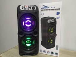 Caixa de som Bluetooth Potente Controle Remoto