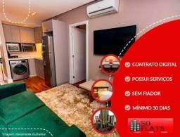Título do anúncio: Flat a 50m da Av Ibirapuera para locação totalmente mobiliado. Com entrada imediata e sem