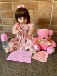 Título do anúncio: Boneca Bebê Reborn Realista toda em Silicone Nova (aceito cartão )
