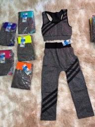 Kit Conjuntos de roupas de treino, 6 por R$50