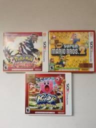 3 JOGOS NINTENDO 3DS ORIGINAL