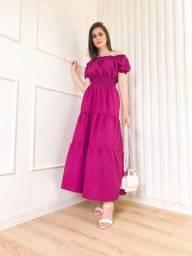 Título do anúncio: Vestido lindos tecido crep no valor de 65 reais apenas