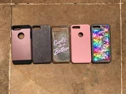 5 Capinhas celular iPhone 7+ e 8+