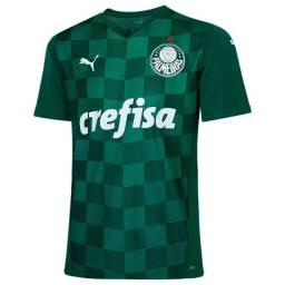 Camisa Puma Palmeiras I 21/22 sn verde tam: P até  XXL
