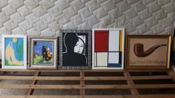 Quadros e pincéis para pintura