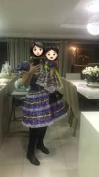 Mãe e filha - vestido de quadrilha