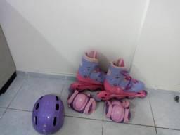 Patins rosa e roxo