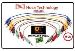 Hosa Technology CSS845 cabo patch P10 estéreo TRS 45cm ñ Santo Angelo Neutrik