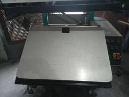 Impressora de serigrafia semi- automática e esteira estufa