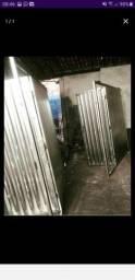 Galvanizado portão de garagem