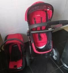 Carrinho de passeio kiddo compass II com bebê conforto R$ 990,00