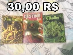 3 Quadrinhos Por 30R$ Hq, Panini, Dc, Marvel, hp lovecraft,Cthulhu, terror, Rei Amarelo
