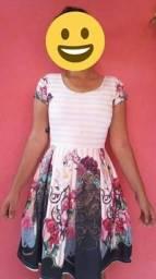 Vestido estampado estilo boneca