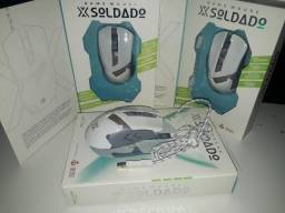 Mouse Gamer 7D Led Rgb 3200 Dpi X Soldado GM-720 Branco Infokit