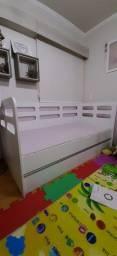 Bi-cama solteiro cama da babá bicama infantil acompanha colchão