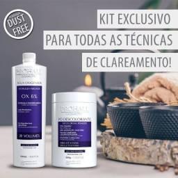 Kit Prohall Pó Descolorante 500g Com agua OX 20 Volumes