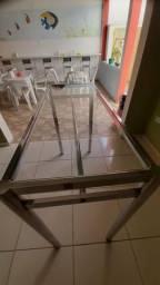 Mesa de vidro com expositor!