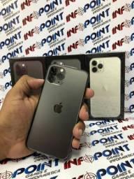 Aceito seu iPhone usado na compra de um iPhone 11 Pro Max 64GB - lacrado 1 ano de garantia