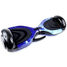 Skate Elétrico Hoverboard 6,5' Polegadas Alça Pequena Estampa Cosmo Azul - 27065