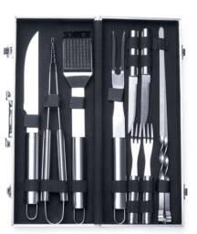 Kit Churrasco 10 peças com maleta em Alumínio