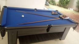 Mesa Charme de Bilhar Cor Dakar Tecido Azul Mod. OPJU8589