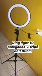 Ring light com suporte de celular de brinde