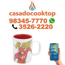 Mini Caneca Porcelana Wb Dc Or The Flash Amarelo/Vermelho 9,5X6Cm 135Ml
