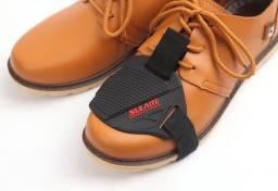Protetor de calçados para motociclistas Sulaite em borracha e velcro