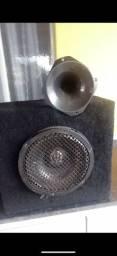 Caixa auto falante de 12 Pioneer 1corneta xzinha