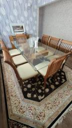 Título do anúncio: Mesa de Jantar vidro e madeira