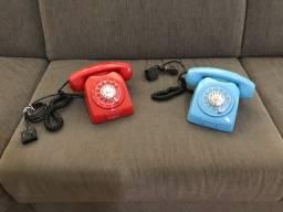Telefone retrô disco restaurado