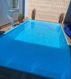 Título do anúncio: Piscina de fibra 7,30 comprimento + filtro ! Ganhe piscina infantil !