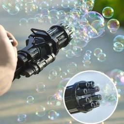Título do anúncio: Brinquedo Bolha De Sabão Pistola Arma Metralhadora