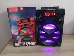 Título do anúncio: Caixa de som Big Sound KTS-909B - Bluetooth Cartão Sd Pen drive Rádio