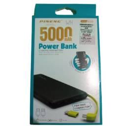 Bateria Portátil Pineng Carregador Power Bank 5000mah Pn-952 Slim